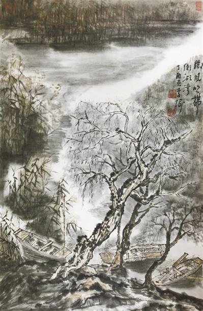 微风吹拂衡湖湾(中国画) - weicuibai65 - 雕龙绣凤
