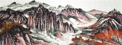 阳春伏牛山(中国画) - weicuibai65 - 雕龙绣凤