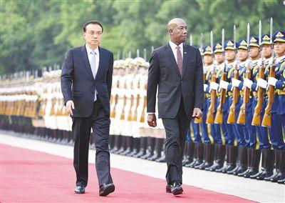 李克强同特立尼达和多巴哥总理罗利会谈