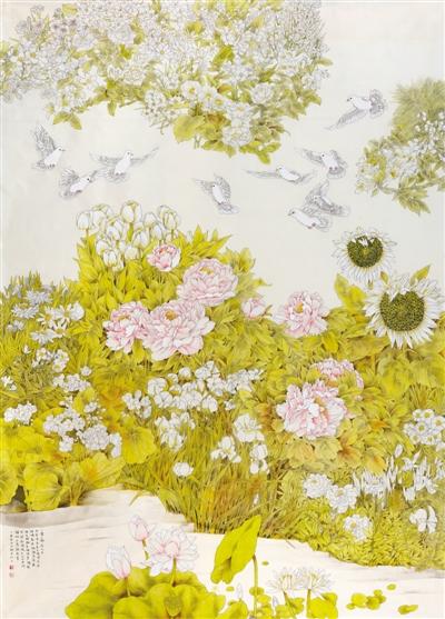 幸福家园 中国画