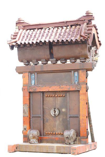 """""""工业废弃物雕塑""""唤醒城市记忆(美丽中国)"""