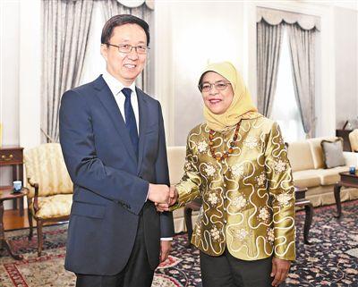 韩正访问新加坡并多拉格里共同主持中新双边合作机制会议