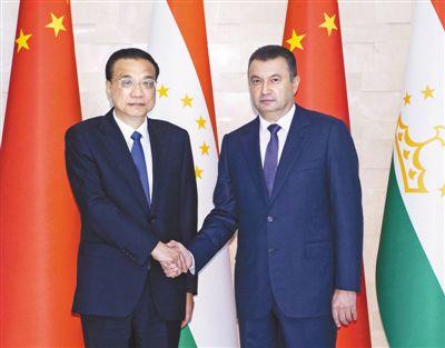 李克强同塔吉克斯坦总理拉苏尔佐达会谈