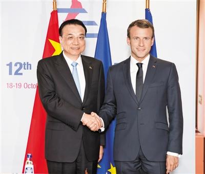 李克强分别会见法国总统马克龙、英国首相特雷莎・梅、德国总理默克尔