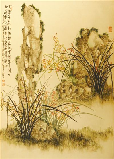中国画作品欣赏:兰惠君子风