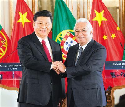 習近平會見葡萄牙總理科斯塔