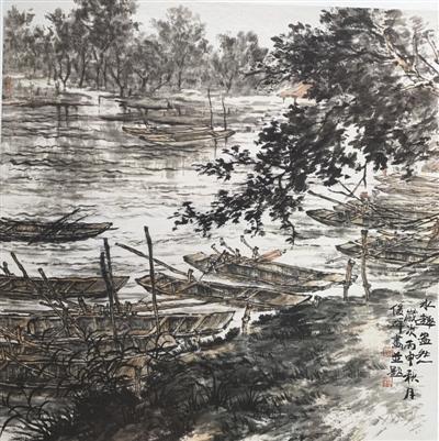 中国画欣赏:水趣盎然