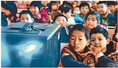 公益电影进农村各中小学校