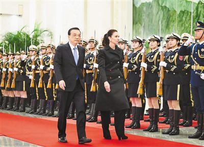 李克强同新西兰总理阿德恩举行会谈