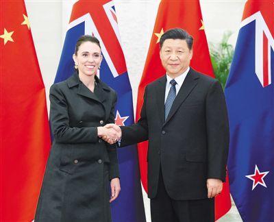 習近平會見新西蘭總理阿德恩