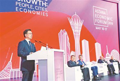 韩正出席第十二届阿斯塔纳经济论坛和第二届中哈地方合作论坛