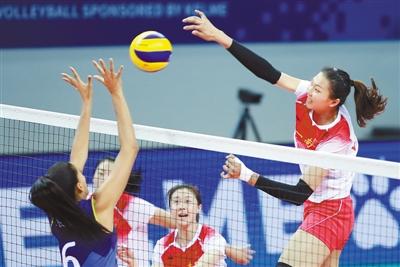 动感2019:军运会女排小组赛中国队胜巴西队