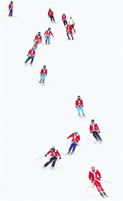 到新疆玩雪去