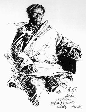 """西游记""""卢梭的启蒙辩证""""局部(钢笔画)   以""""最后的遗产高清图片"""