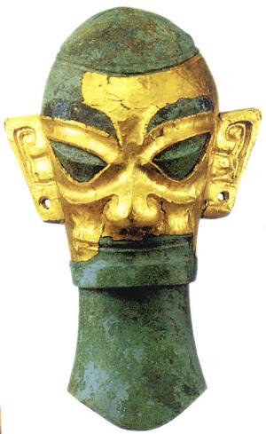 带金面具的头像