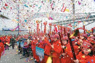 重庆朝天门大桥主拱合龙 中国之窗图片