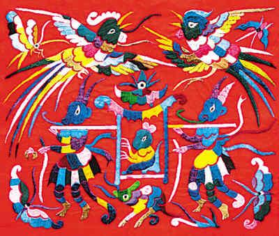 苗族刺绣图案