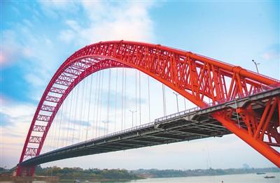 跨径拱桥平南三桥通车