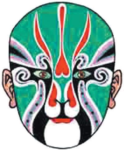 画脸谱是京剧演员进入特定角色的一种化妆方式.