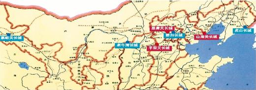 长城沿线风景地图