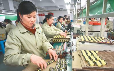 農民女工在台企(圖)
