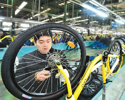"""天津""""飞鸽""""自行车与ofo共享单车合作."""
