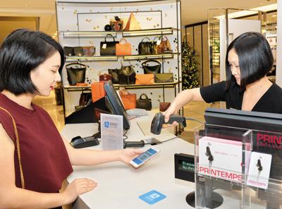 中国移动支付盛行海外