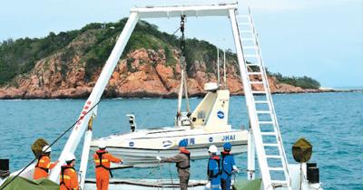 我国首次用无人艇进行海岸带综合地质调查