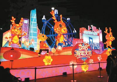 大陆花灯闪亮台湾元宵节