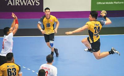 手球对印度尼西亚,中国香港赢了