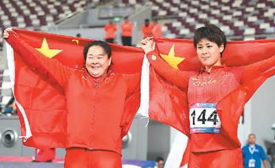 在第23届亚洲田径锦标赛女子链球决赛中 中国选手再夺两金
