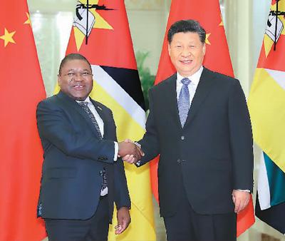"""习近平会见出席第二届""""一带一路""""国际合作高峰论坛的部分国家领"""