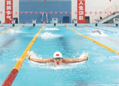国家游泳队备战东京奥运