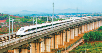 高铁开进井冈山 初期运营时速300公里