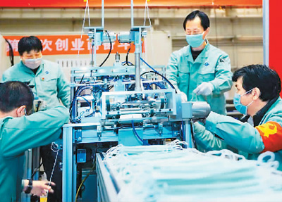 23条口罩生产线火速恢复 每天产能接近200万只