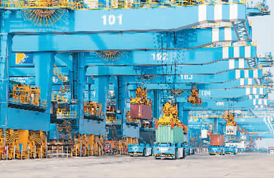 青岛港:再次刷新由其创造的自动化码头装卸效率世界纪录