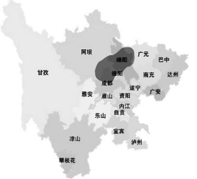 四川省简图