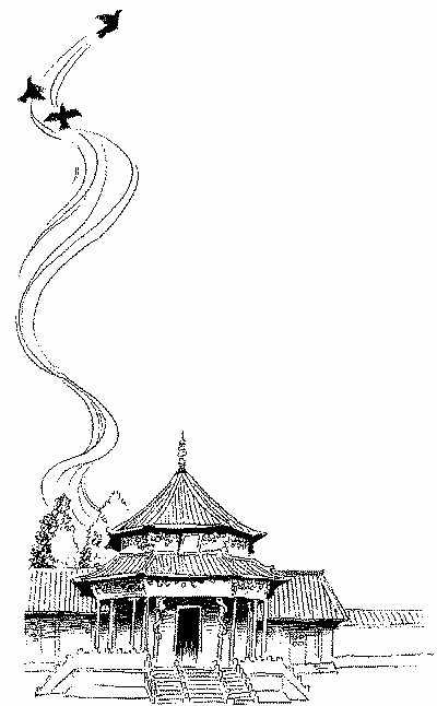 中国民族建筑简笔画-人民日报海外版-人民网