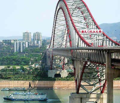 重庆朝天门长江大桥建成 -人民日报海外版-人民网图片