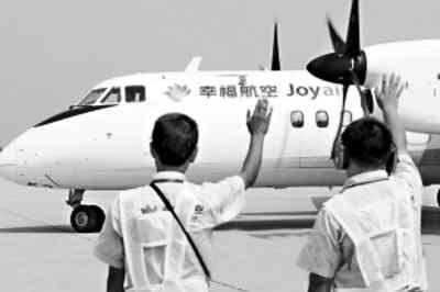 两架中国自主研制的新舟60飞机随即投入西安—延安,西安—郑州航线的