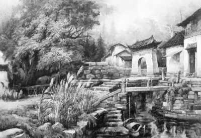 太湖月亮湾(油画)