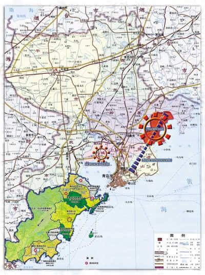 青岛前湾区15泊地图
