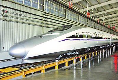 6月25日我国首列智能化高速列车样车在南车青岛四方机车车辆股份有限