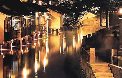 周庄夜景高清图片