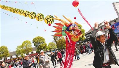 国际风筝节暨2014沙家浜阿庆嫂民俗风情节开幕式在沙家浜风景区举行