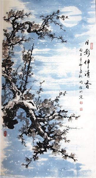 """他的座右铭是:""""身是菩提树,心似明净台,时时勤佛事,莫使惹尘埃."""