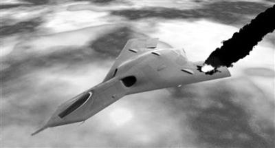 """飞机机翼在飞行中受损后,""""幸存者""""流体能够快速将其修复."""