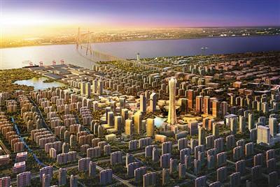 苏通科技产业园规化鸟瞰图