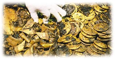 【智凯考古特讯】海昏侯墓取出大量马蹄金和金饼 现场一片金黄(组图) - 畅之 - 智凯书屋