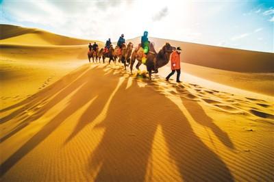 大漠美景迎客来